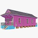 shotgun house 3D models