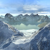 Landscape Snowy Alaska
