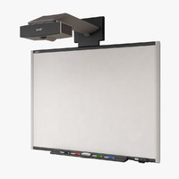 interactive whiteboard 3d model
