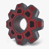 3d engine ufo structure model