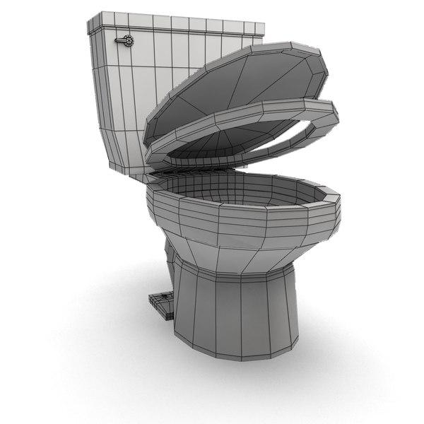 toilet realistic 3d model on Model Toilet Design  id=19927