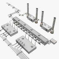 3d model of geothermal power plant