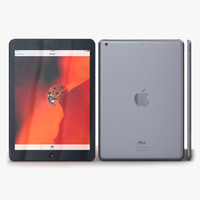 apple ipad air space 3d model