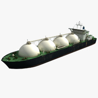 tanker ship lng 3d max