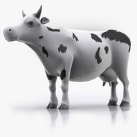 3d cow animation