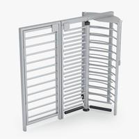 3d turnstile door model