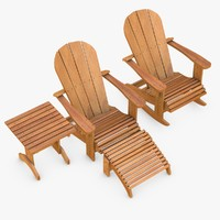 Adirondack Style Chairs & Table