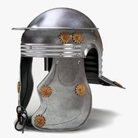 roman officer helmet 3d 3ds