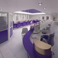 3d bank interior furniture
