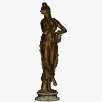 Bronze Statue - Roman Goddess