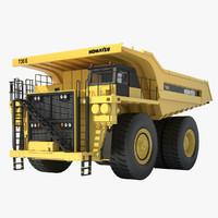 3d komatsu mining truck model