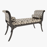 banquette modenese liberty 3d model