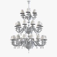 razzetti lc 125 chandelier lighting 3d model
