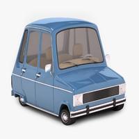 3d model renault 6 car