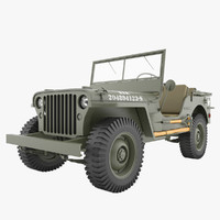3ds wwii jeep