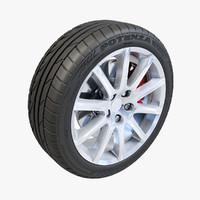 Bridgestone Potenza 10 Spoke Wheel