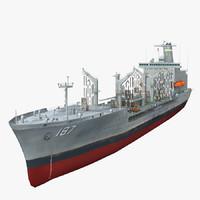 3d model of usns oil tanker
