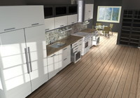 3d kitchen cabinets library modern model
