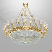 dxf chandelier lamp