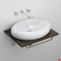 3d sink basin