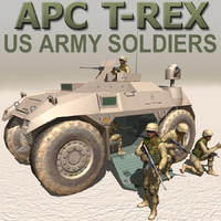 MRAP_APC Truck & US Army Soldiers