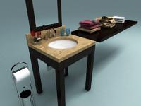 3d model modern sink bathroom