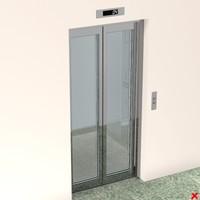 lift lobby entrance 3d dxf
