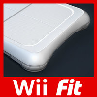 nintendo wii fit console 3d 3ds