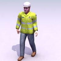 construction workman 3d max