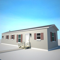 mobile home trailer 3d lwo