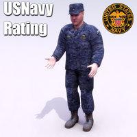 usnavy rating navy 3d model