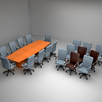 conference room table 3d model