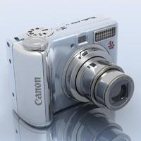canon powershot a550 3d 3ds