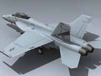 f a-18f super hornet 3d 3ds