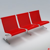 airport chair 3ds