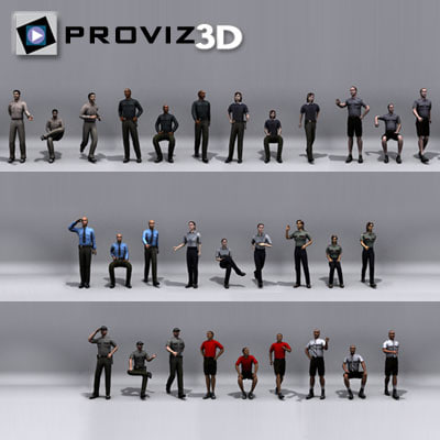 people: security people 3d max