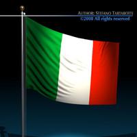 3d italian flag