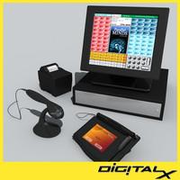 3d model touch screen register