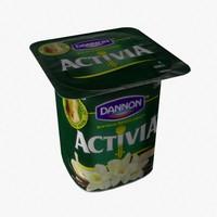 3d model yogurt food