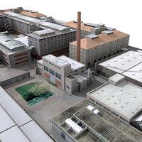 3d industrial buildings model