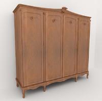 classic wardrobe 3d model