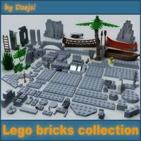 3d lego bricks model