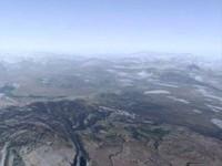 3d mountainous terrain mono model