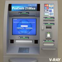 teller machine atm pc2100 3d model