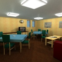 3d officers lounge commercial ship