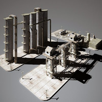 3d model industry refinery construction