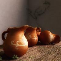 3d model mexican small jar