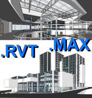 multi purpose building 06 3d max
