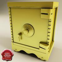 safe modelled 3d model