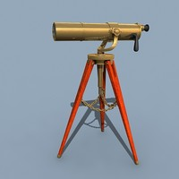 3d model telescope navy
